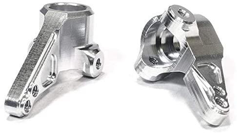 Integy RC Model Hop-ups C26204SILVER Billet Machined Steering Knuckle (2) for HPI 1/10 Sprint 2 On-Road