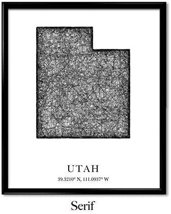 Serif Design Studios Utah, Longitude, Latitude, City Maps, State Prints, Art Print, Map Print, World Map, Travel Map, Map Art