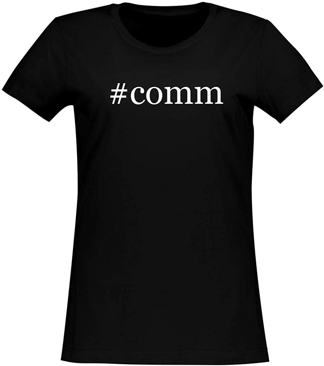 #comm - Women's Soft & Comfortable Hashtag Junior Cut T-Shirt