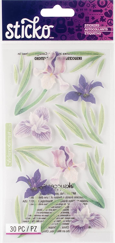 Sticko Vellum Irises Sticker (Set of 4)
