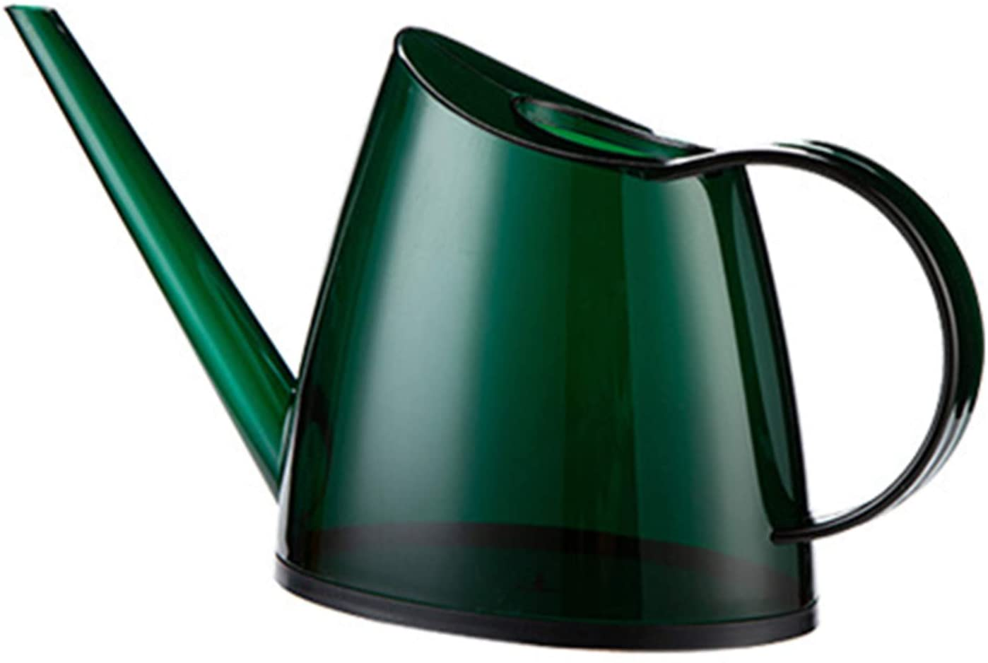 FVILIPUS Indoor Watering Can, for House Bonsai Plants Flower Succulents Decorative Long Spout Transparent Watering Can1.4l 1/3 Gallon Modern Watering Pot (Green)
