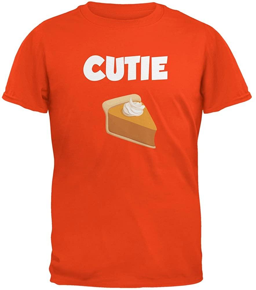 Thanksgiving Cutie Pie Orange Adult T-Shirt