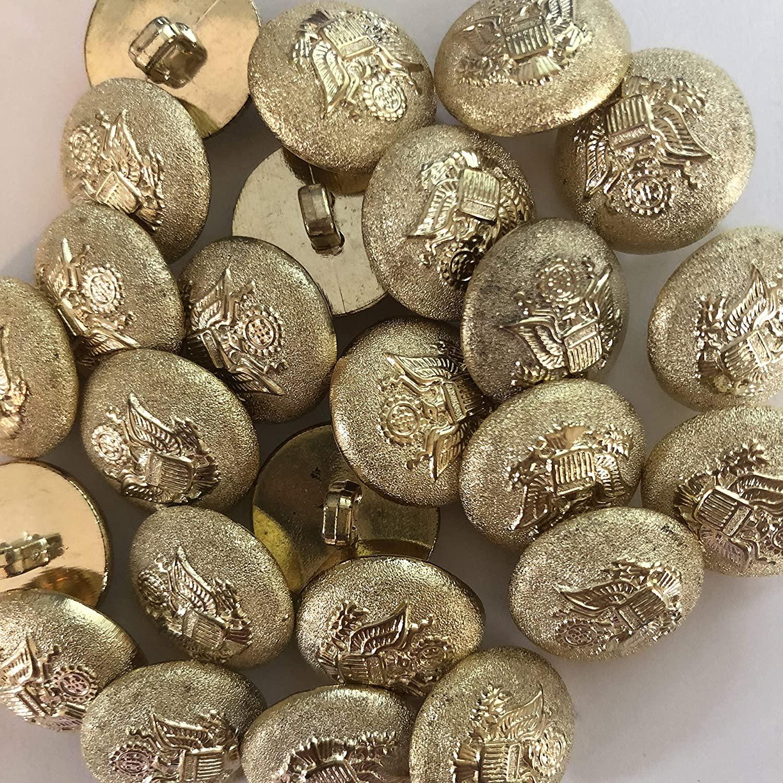 15mm 10Pcs Shiny Gold Buttons for Blazer, Suits, Sport Coat, Uniform, Jacket