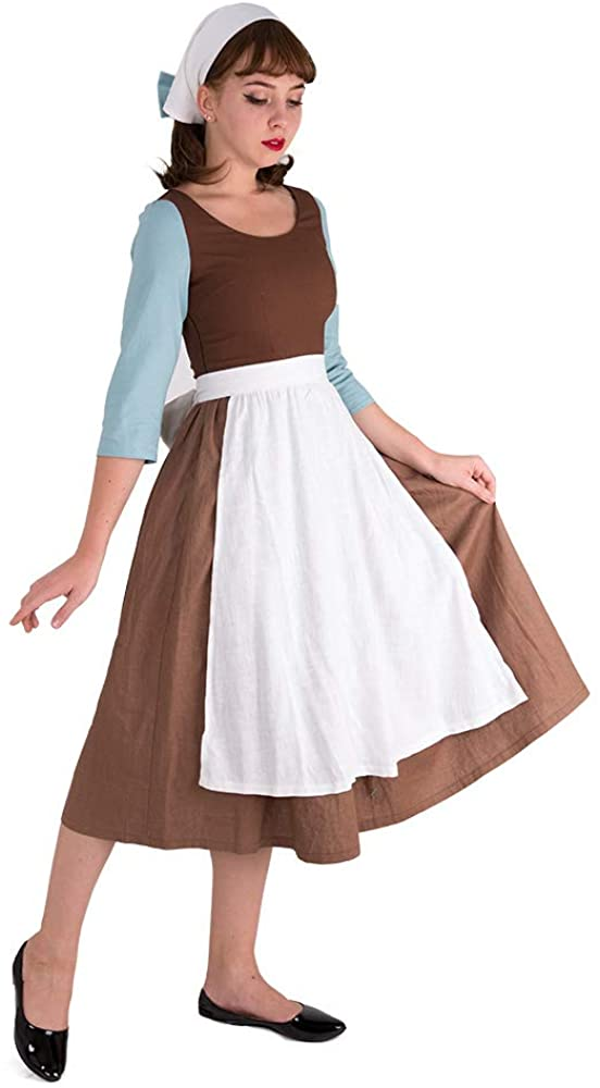 Cosplay.fm Women's Cinders Rags Peasant Costume Maid Dress Cosplay