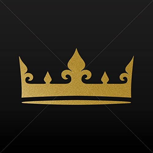Decal Royal Crown Chess Queen King Kingdom Tablet Laptop Weatherproof Gold-Matte (3 X 1.48 In)