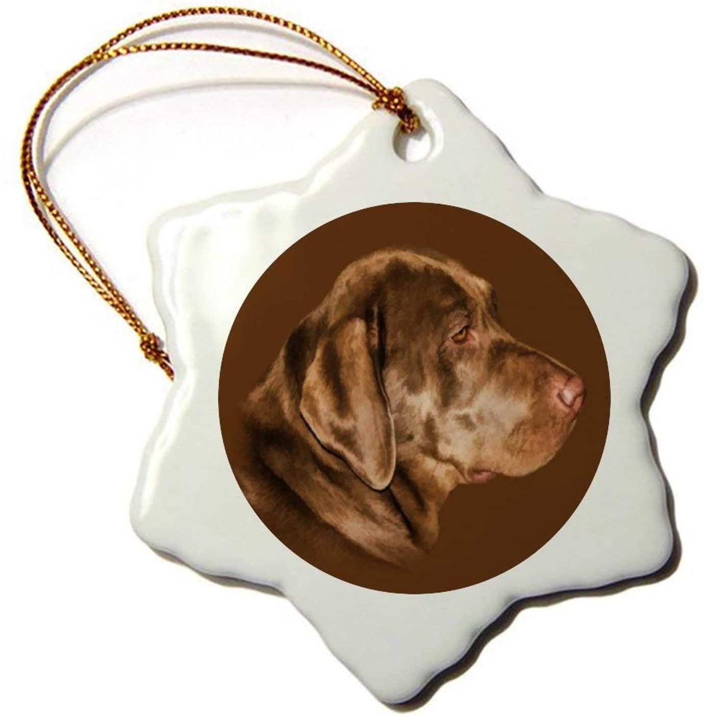 Christmas Snowflake Ornaments, Labrador Retriever Dog Christmas Tree Ornament, Hanging Decor Gift for Families Friends,3 Inch