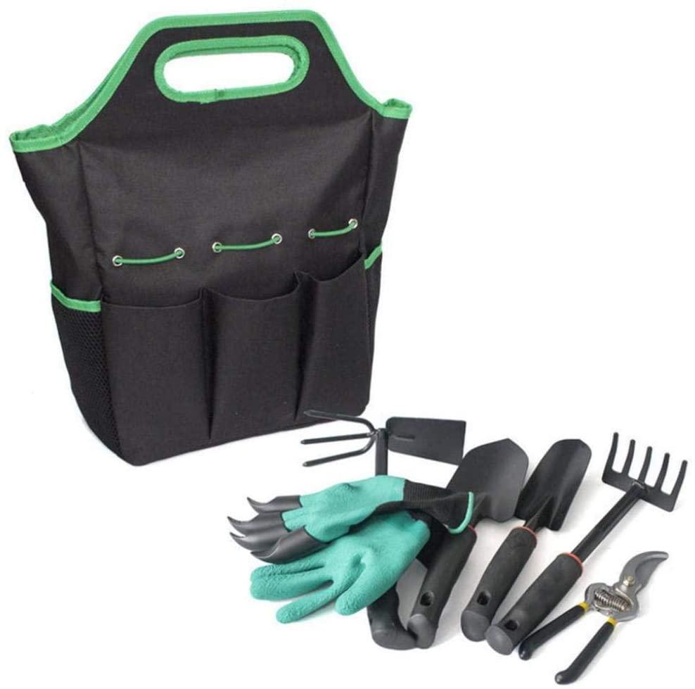 WANGLXFC Garden Outdoor Tool Storage Bag 6-Piece Garden Tool Bag Garden Tools Set, Hand Planting Kit, Toolkit Plus Tools