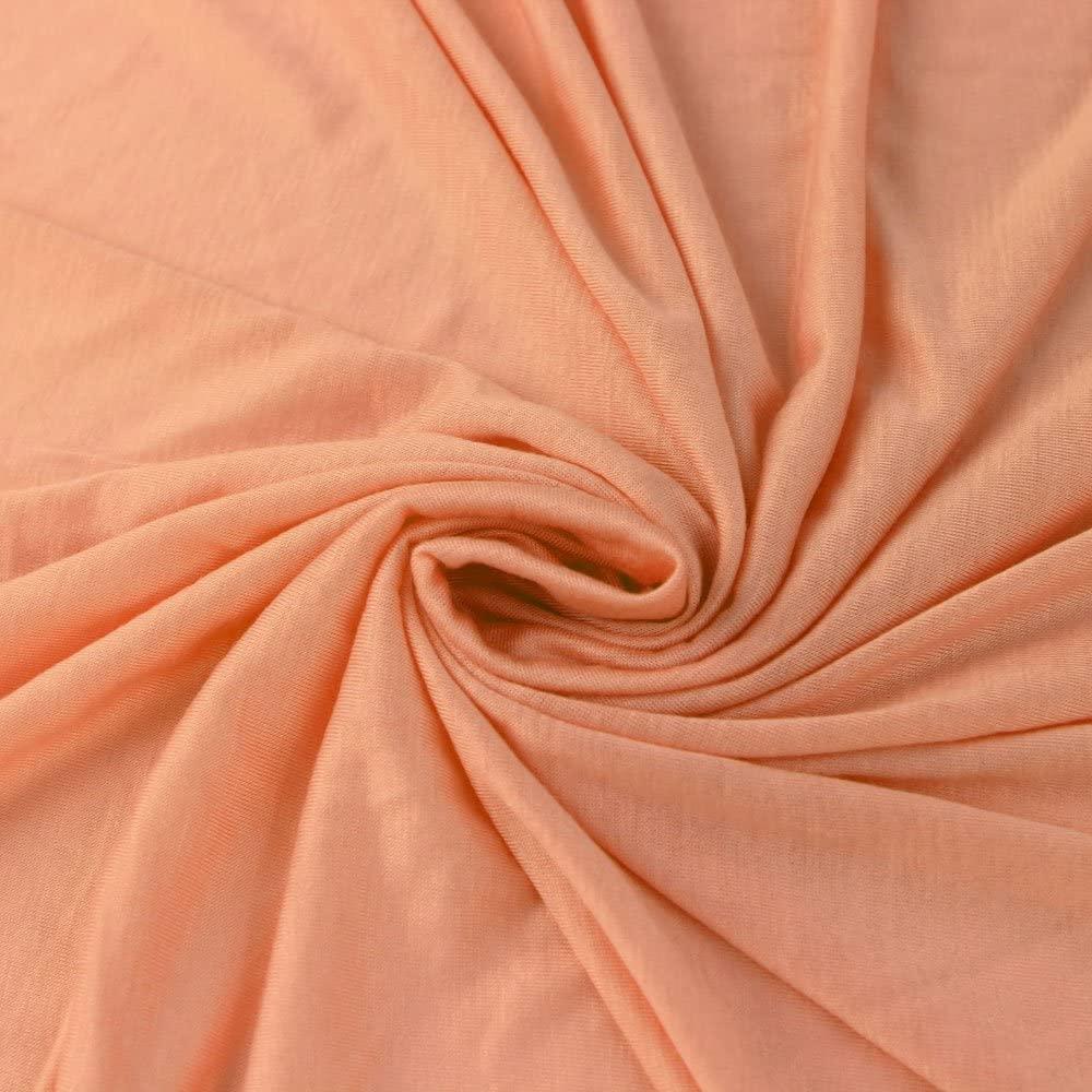 Peach Papaya 100% Rayon Jersey Knit Fabric, Causal Jersey Knit Fabric, Knitting Fabric by The Yard - 1 Yard