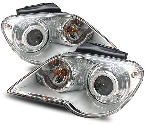 EpandaHouse Compatible with 07-08 Chrysler Pacifica (W/Stock HID) CCFL Halo Clear Projector Headlights