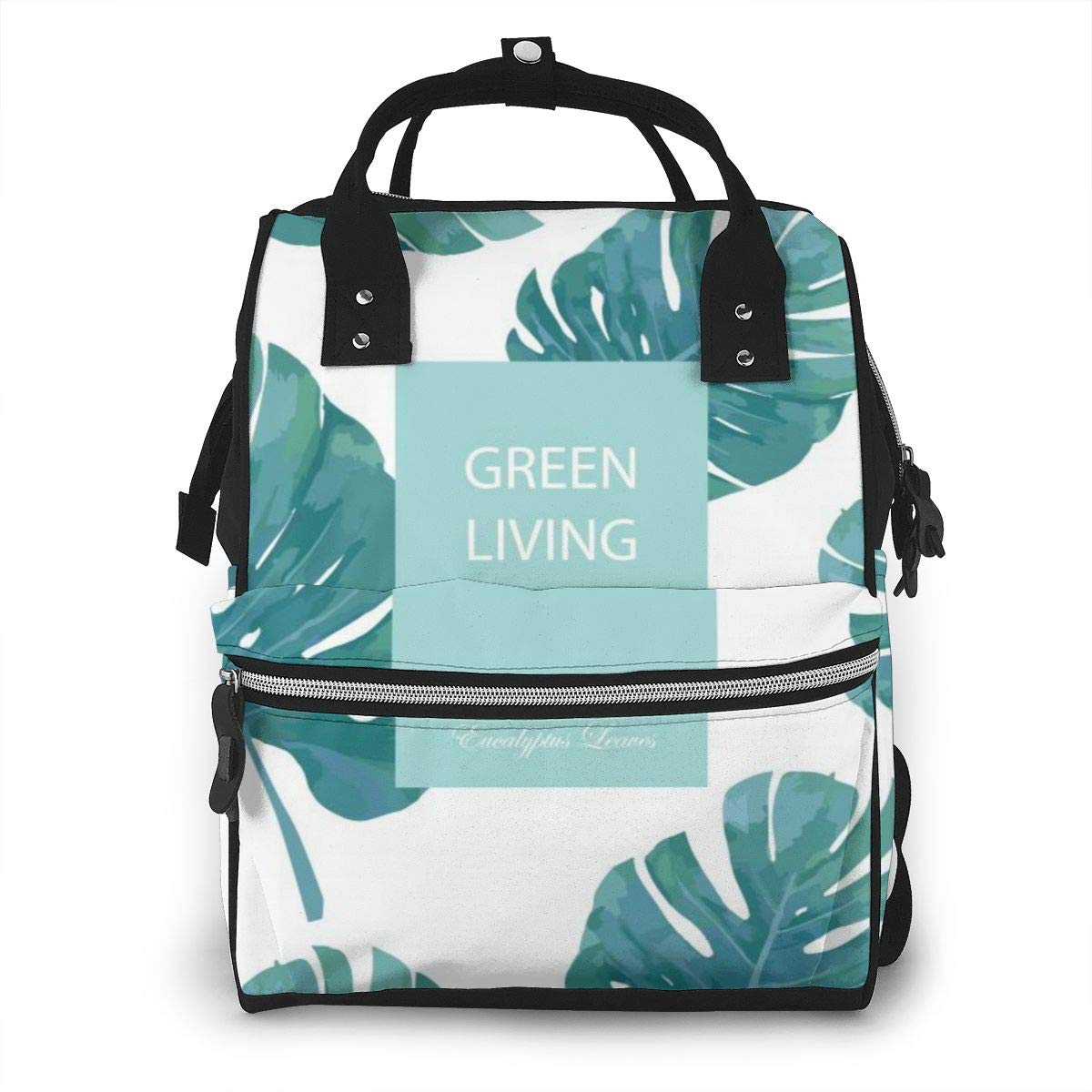 Tropic Green Fashion Large Capacity Diaper Nappy Travel Nursing Bag Mummy Mom Backpack Laptop Multi-Function for Baby Care Women Family