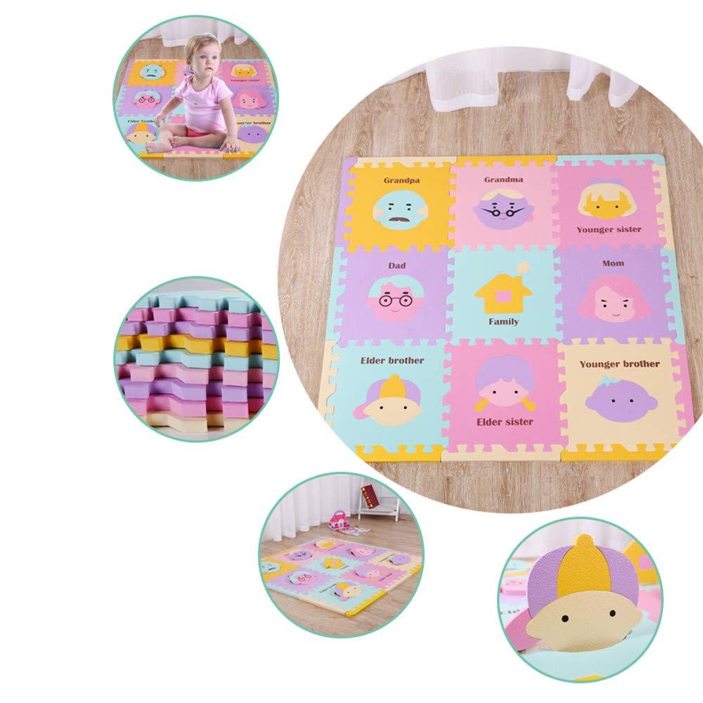 Minelody Crawling Mats, Multiplication Soft PE Foam Interlocking Tiles Mats, Durable and Non-Toxic Portable playmat for Babies