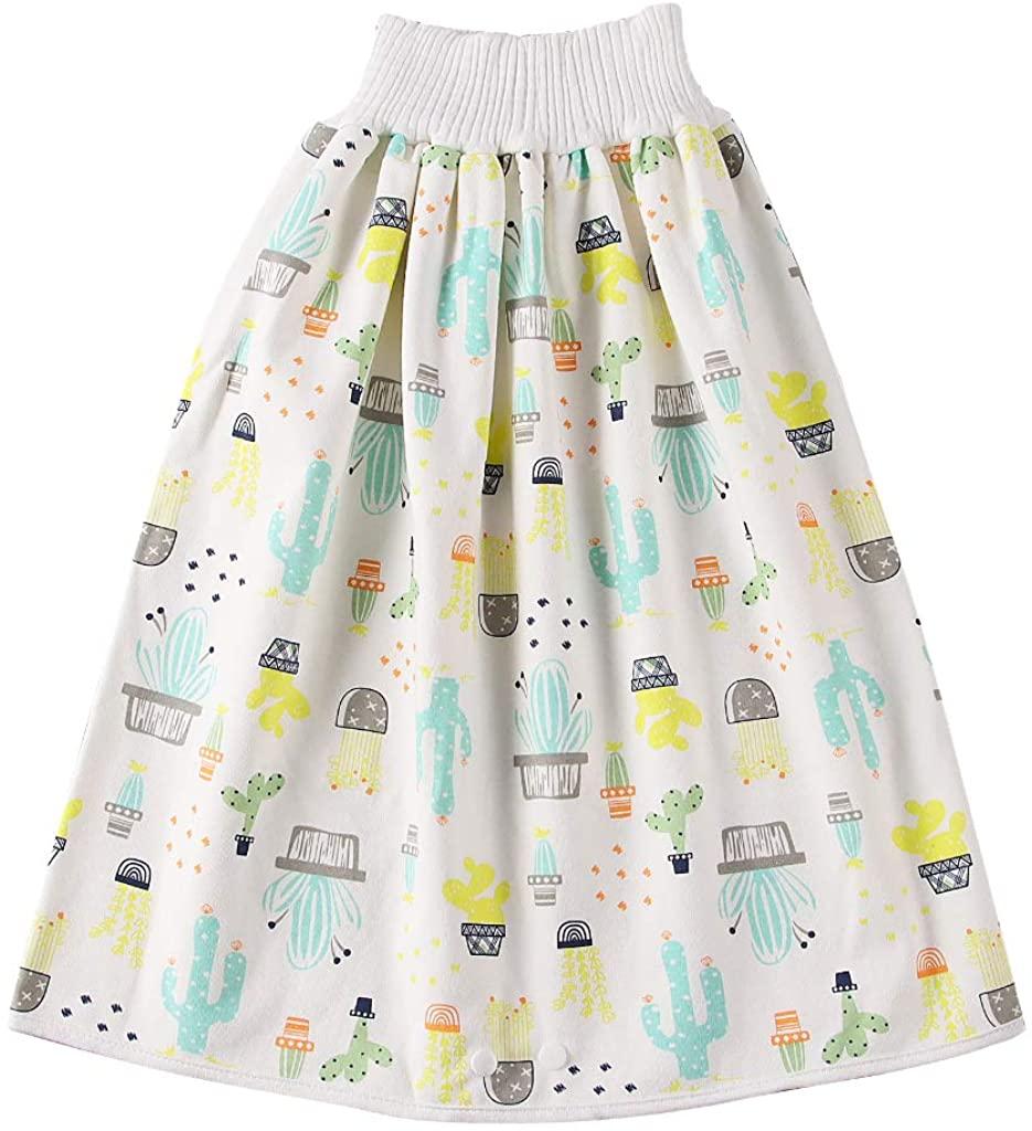CM C&M WODRO Kids Baby Diaper Skirt Shorts 2 in 1 Boys Girls Training Skirt Bloomer Comfy Reusable Diaper Cover Underwear