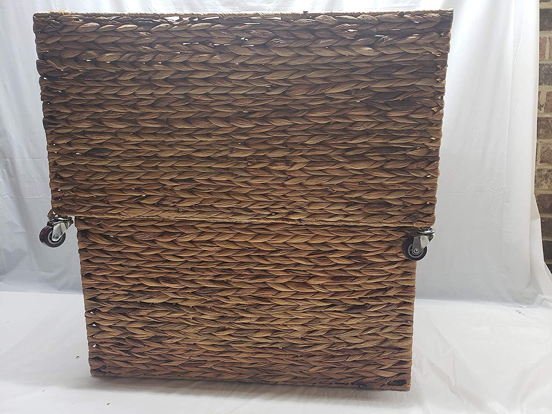 Large Nesting Woven Storage Baskets 2 Piece Set 5