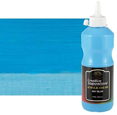Creative Inspirations Acrylic Paint - Acrylic Paint Smooth, Rich, Creamy & Free-Flowing Non-Toxic - [Sky Blue- 500 ML]