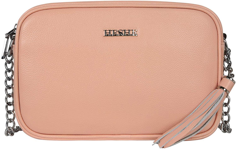 On Clearance Sale Heshe Womens Leather Crossbody Bag Small Shoulder Handbags Ladies Designer Satchel Purse
