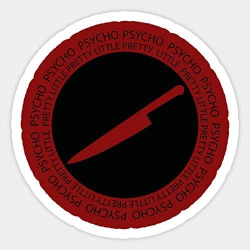 [Yangire] Pretty Little Psycho (Black) - Sticker Graphic - Car Vinyl Sticker Decal Bumper Sticker for Auto Cars Trucks