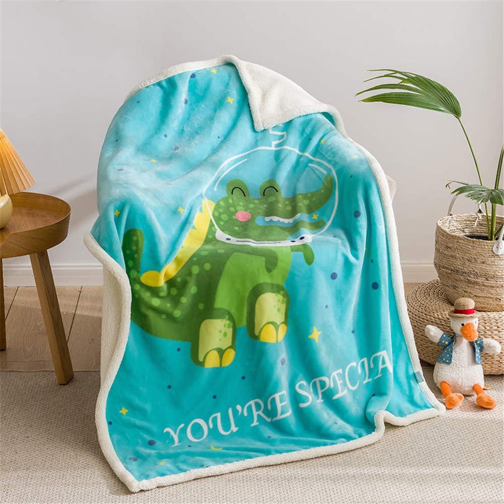 Brandream Baby Receiving Blanket Ocean Animal Fleece Throw Blanket for Newborn Baby Infant Neutral Soft Warm Blanket with Cute Crocodile 40 inch ×55inch, Blue