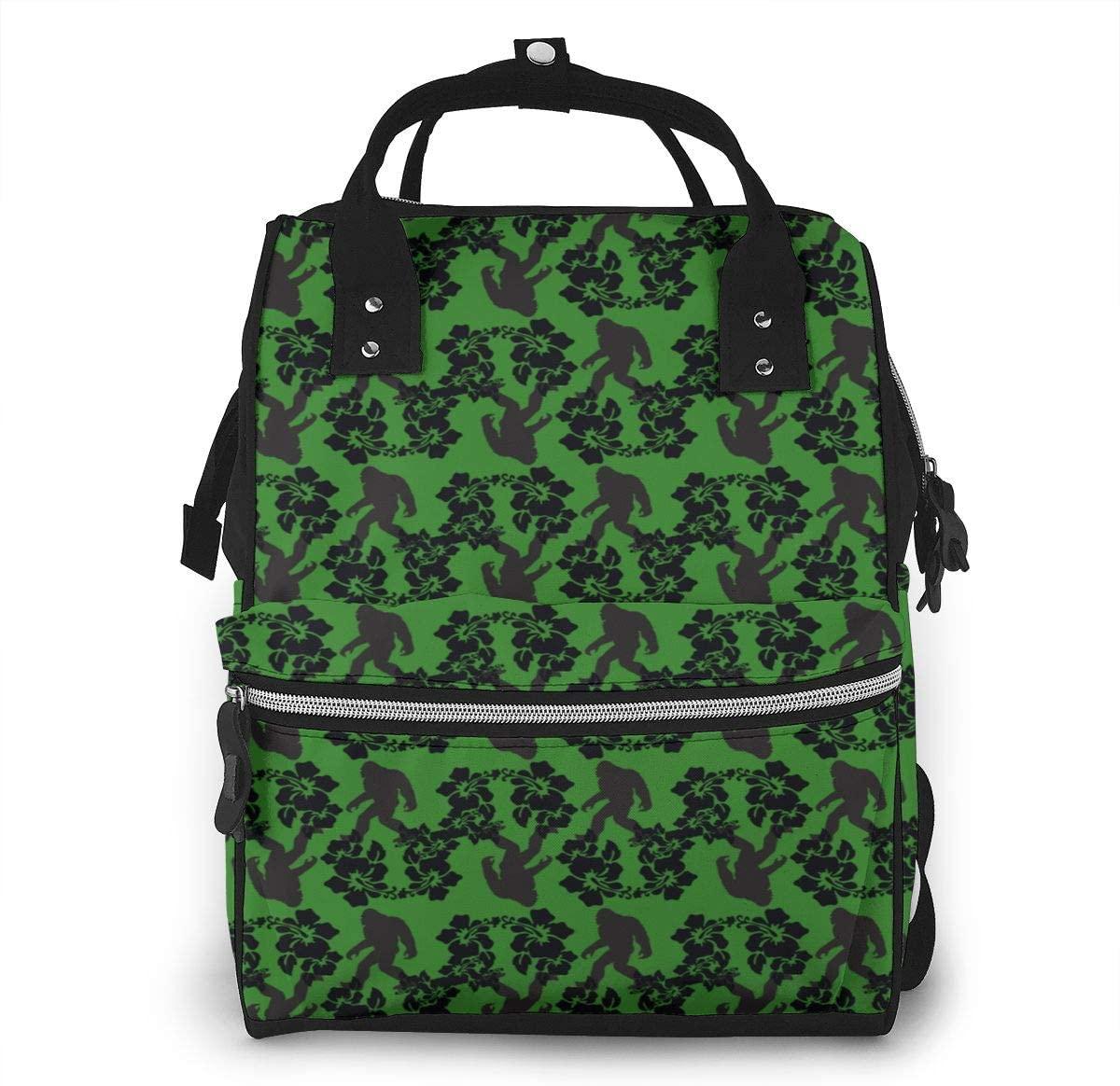 NiYoung Diaper Bag,Stylish Waterproof Baby Bag Backpack,Multi-Function Travel Backpack Maternity Nappy Bag (Hawaii Flowers)