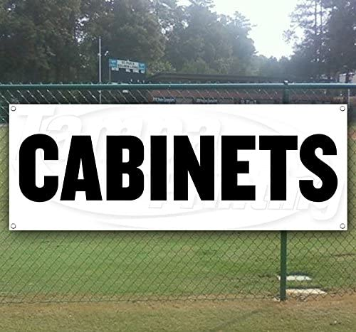 Cabinets 13 oz Heavy Duty Vinyl Banner Sign with Metal Grommets, New, Store, Advertising, Flag, (Many Sizes Available)