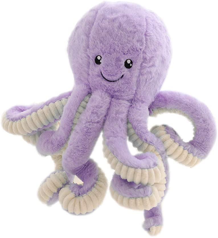 Octopus Animal Plush Toys - Octopus Stuffed Animal Toy Plush Cute Soft Sleeping Kid Plush Toy Pillow Doll for Adults Boys Babies Girls Displaying Cuddling Home Decoration Doll(Purple