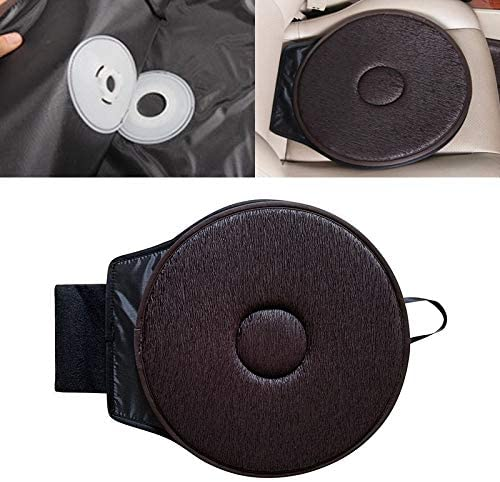 Car Seat Cushion 360 Degree Rotation Car Seat Cushion Whirling Seat Mat (Color : Coffee)