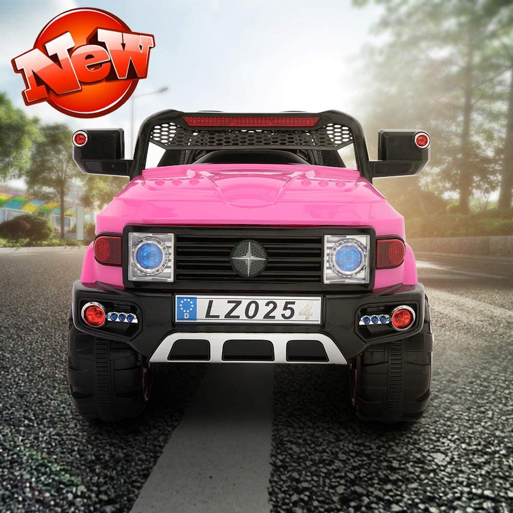 JOYBASE 12V Off-Road Ride On Car for Kids, 2.4G Remote Control, 3 Speed, Age 3 to 7 Years (Pink)