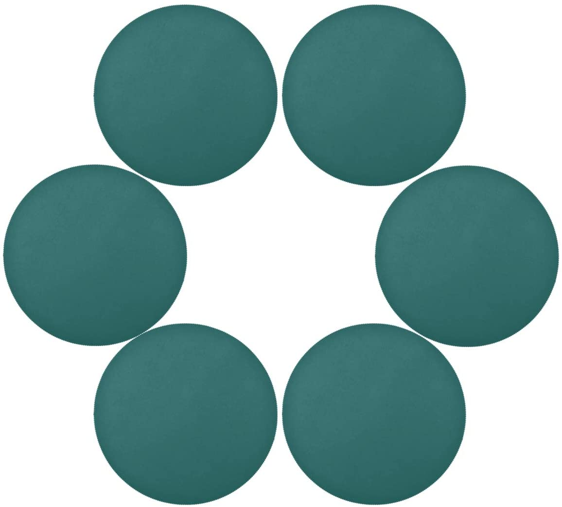 senya Solid Color Round Place mats for Kitchen Dining Table Runner Heat Insulation Non-Slip Washable Fall Placemats Set of 6