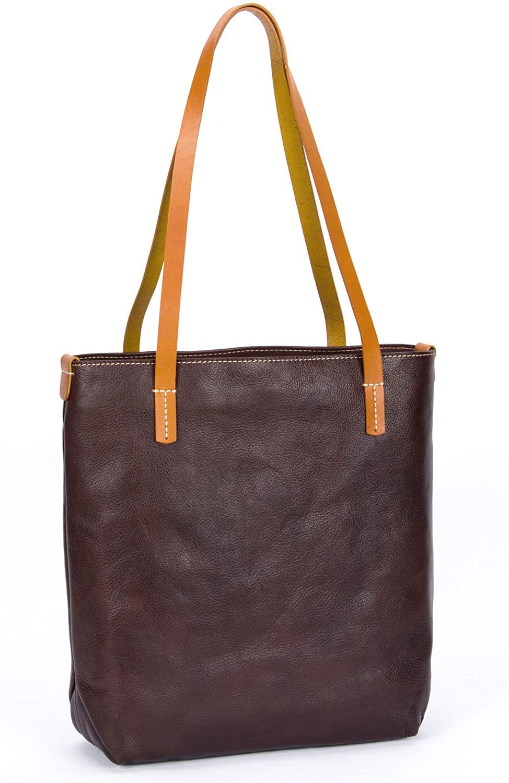 CENUNCO Genuine Leather Tote Purses Vintage Work Shoulder Bag