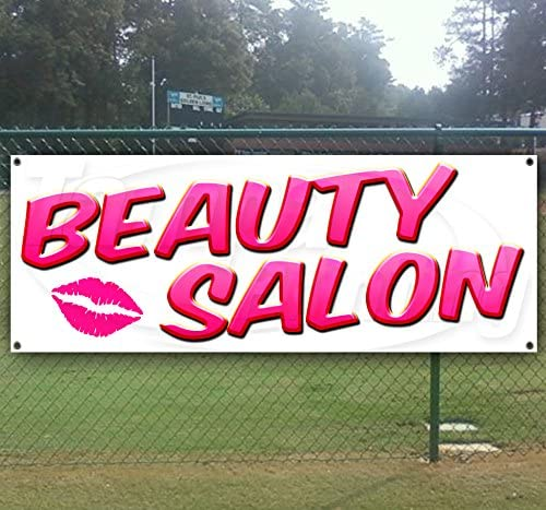Beauty Salon 13 oz Heavy Duty Vinyl Banner with Grommets