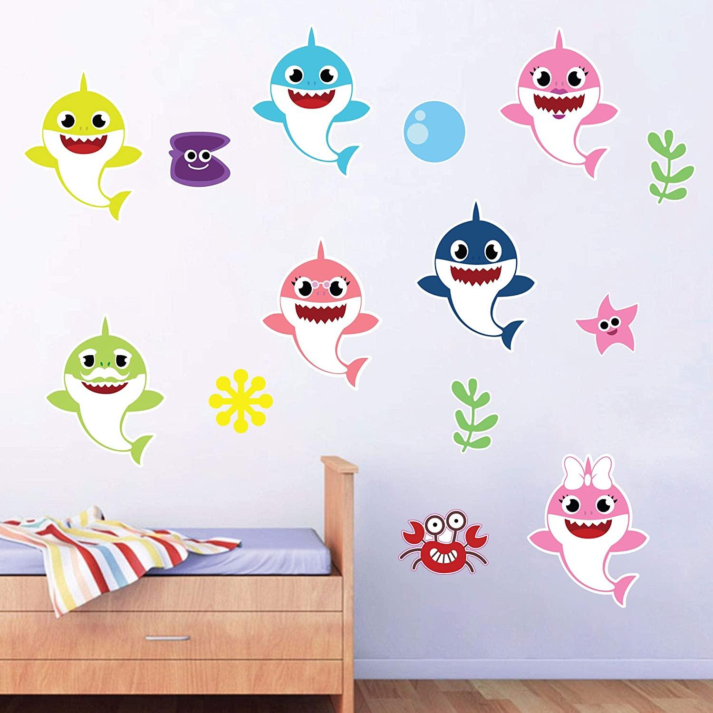 Baby Shark, Baby Boy Nursery Wall Decal Vinyl Sticker for Home Décor. by Kraftmatics Design