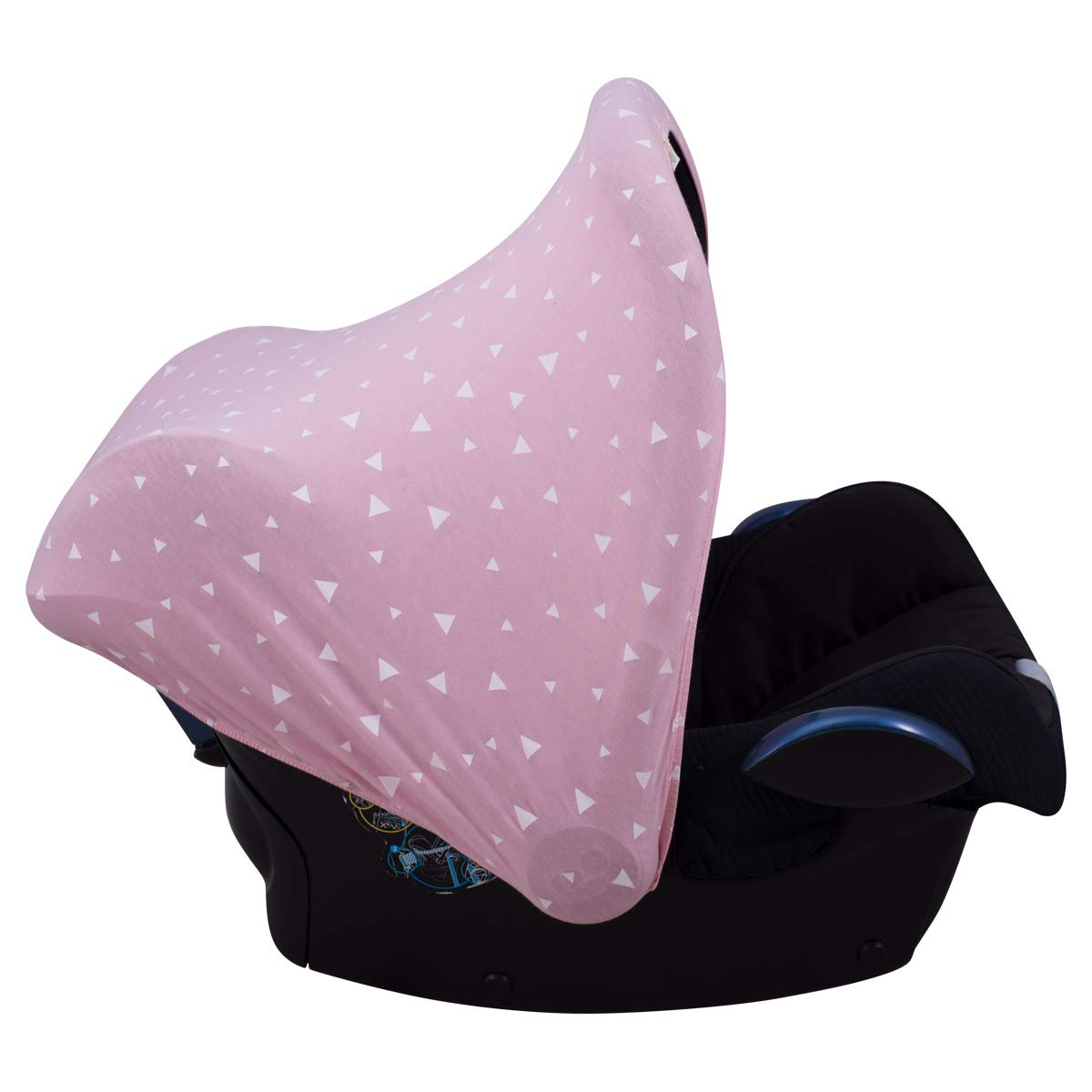 JANABEBÉ Universal Hood Canopy for Baby Carriers and Group 0 Chairs (Pink Sparkles)