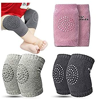 RICH-Po 3 Pair of Baby Socks,Baby Knee Pads Anti-Slip Crawling Safety Protectors Elbow Knee Leg Warmers