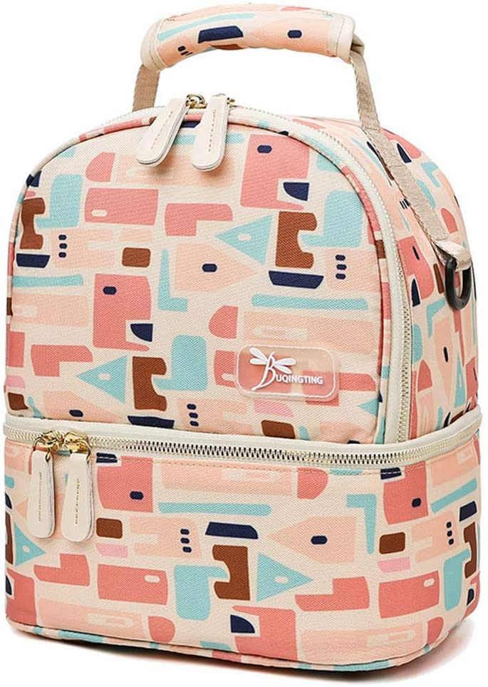 YU-NIYUT Diaper Bag Backpack, Insulated Bottle Mommy Maternity Diaper Handbag Baby Care Shoulder Bag Travel Tote Warming Backpack, Multifunctional Travel Bag for Mothers, Nurses, Students