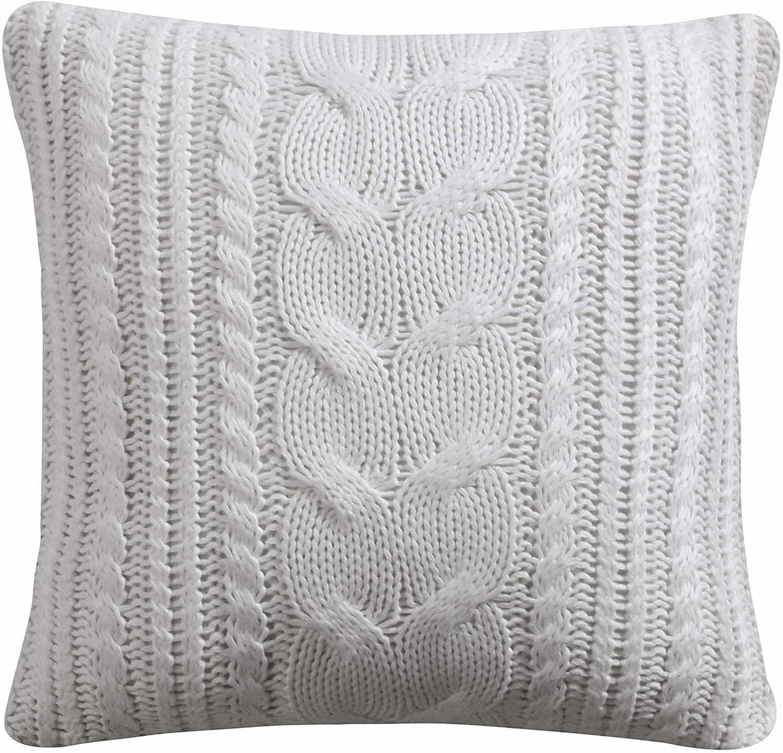 Levtex Home - Camden -Decorative Pillow (18X18in.) - Cream Knit - Cream