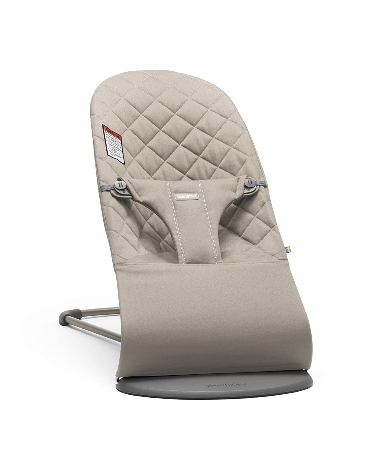 BabyBjörn Bouncer Bliss, Sand Gray, Cotton (006017US)