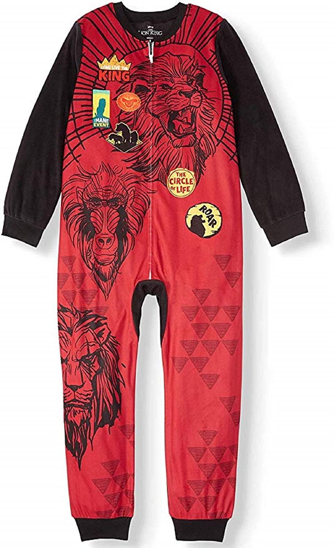 Disney The Lion King Boy's Sleeper Pajama (Multi, 8)