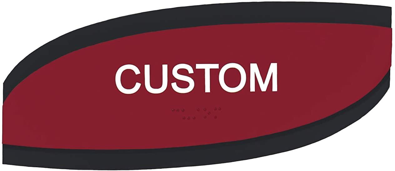 Customizable ADA Compliant Room ID Skew Series Signs 3x9