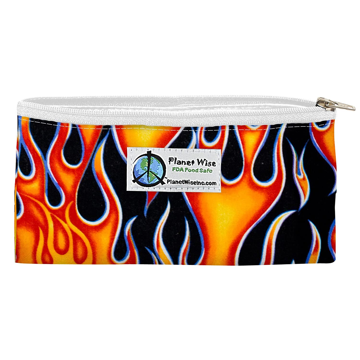Planet Wise Reusable Zipper Sandwich and Snack Bags, Snack, Flame