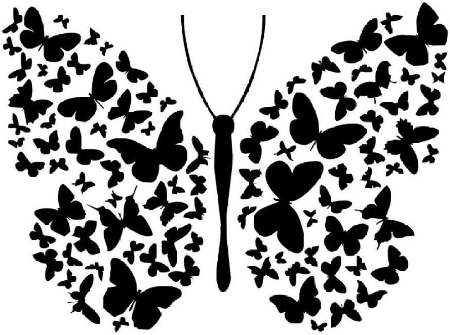 Wall Stickers Butterflies for Kids Rooms Vinyl Removable DIY Art Stickers Wall Decal Home Decoration Wallpaper 40X60Cm