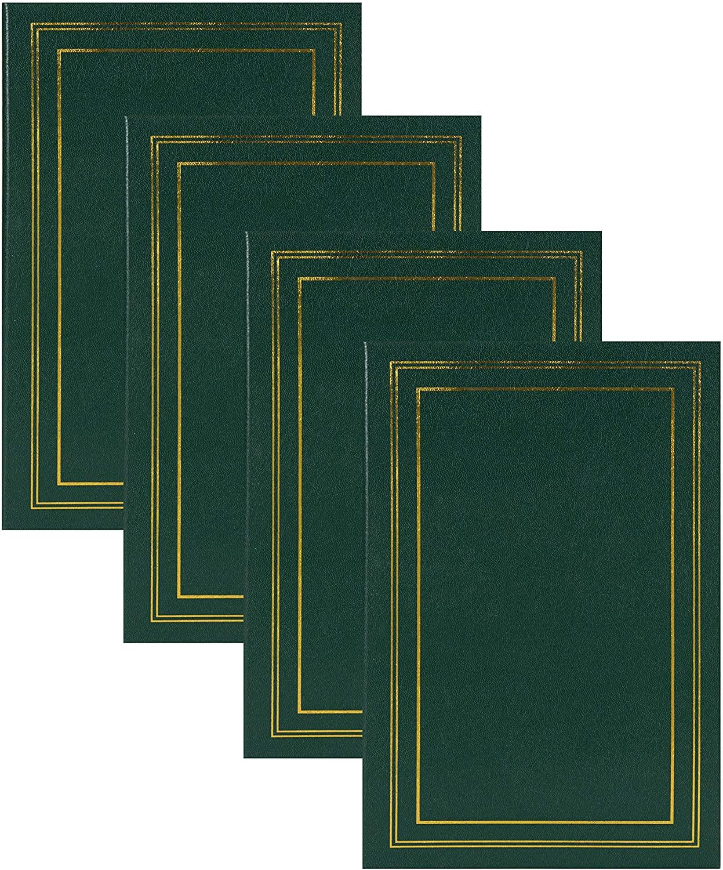 DesignOvation Traditional Photo Album Set of 4, 300, Dark Green