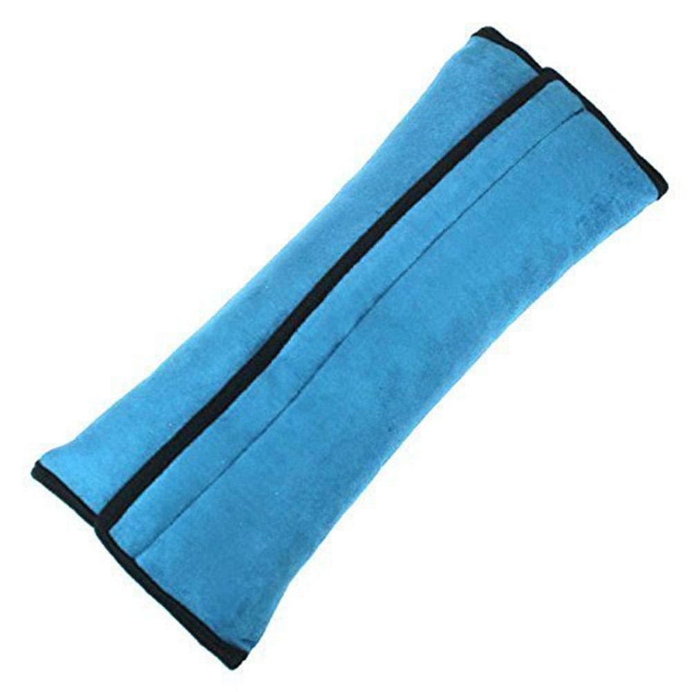 Hopter Blue Children's Car Seat Belts, Shoulder Pads, Cartoon Cute Shoulder Pads, Thickened Plush Vehicle Shoulder Pads, Child Seat Belt Pillows