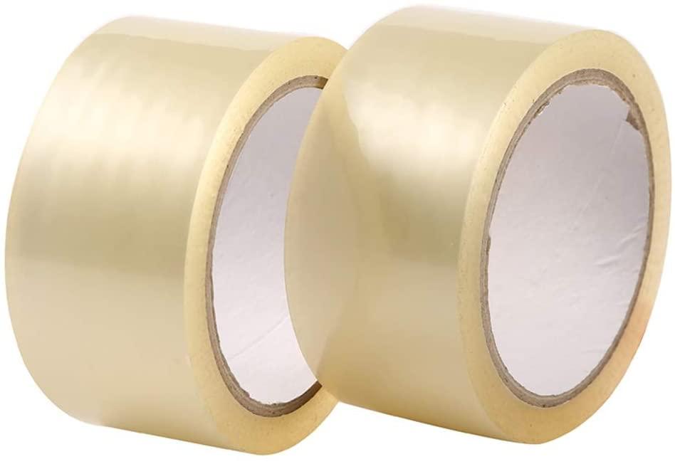 YKS 12 Rolls Carton Sealing Clear Packing Tape Box Shipping - 2.7 mil 1.8