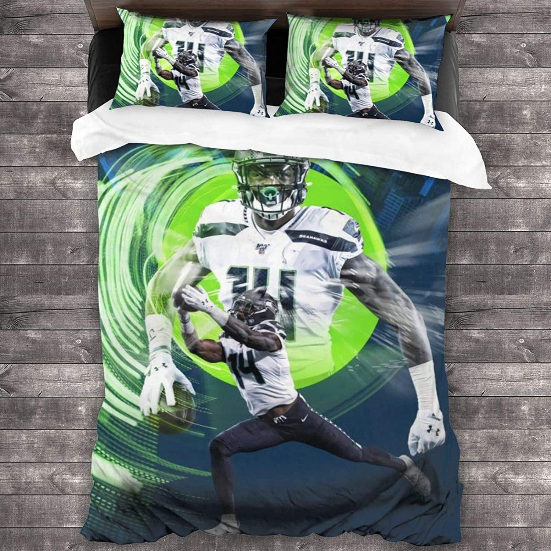 HHJSZJ Dk Metcalf Soft Microfiber 3-Piece Luxury Lightweight Bedding Set Bed for Adults Kids 1 Comforter Cover + 2 Pillowcases (No Comforter)