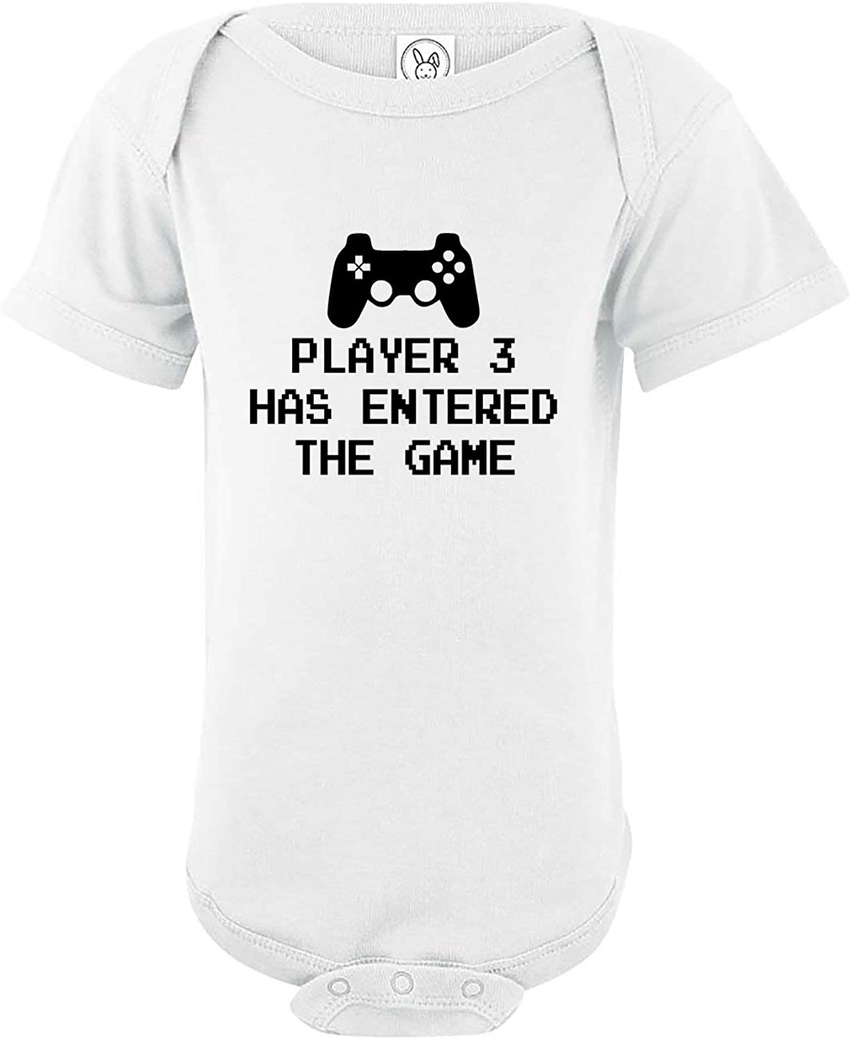 Player 3 Has Entered The Game - Unisex Baby Cotton Bodysuit - Funny Infant One-Piece Romper Outfit