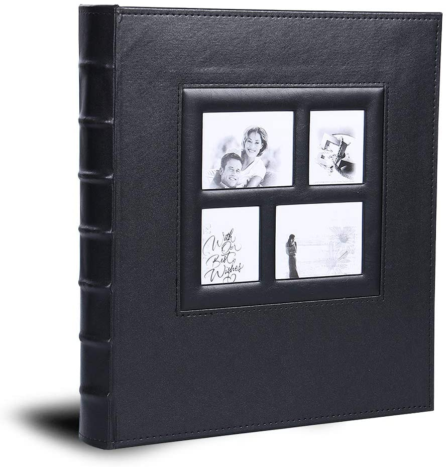 Vienrose Photo Album for 620 4x6 5x7 Photos Leather Cover Extra Large Capacity for Family Wedding Anniversary Baby Vacation