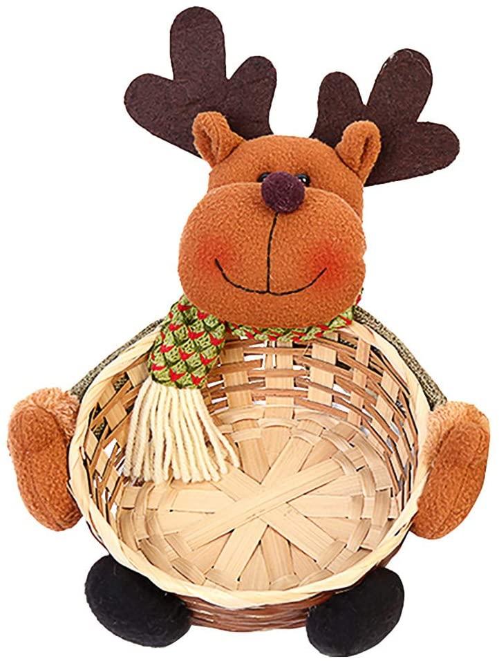 Candy Basket Christmas Candy Storage Basket Decoration Santa Claus Storage Basket Gift Large Home & Garden Housekeeping & Organizers