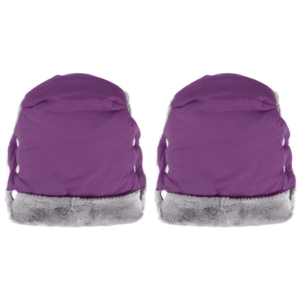 ROSEBEAR Stroller Hand Muff, Winter Waterproof Hand Warmer Baby Stroller Pushchair Mittens with Universal Fit