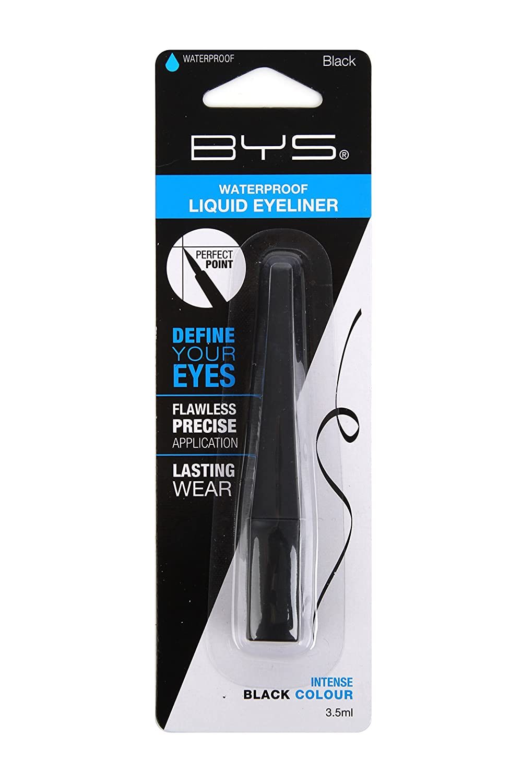 BYS Waterproof Smudgeproof Fine Tip Liquid Eyeliner Makeup Black 3.5ml
