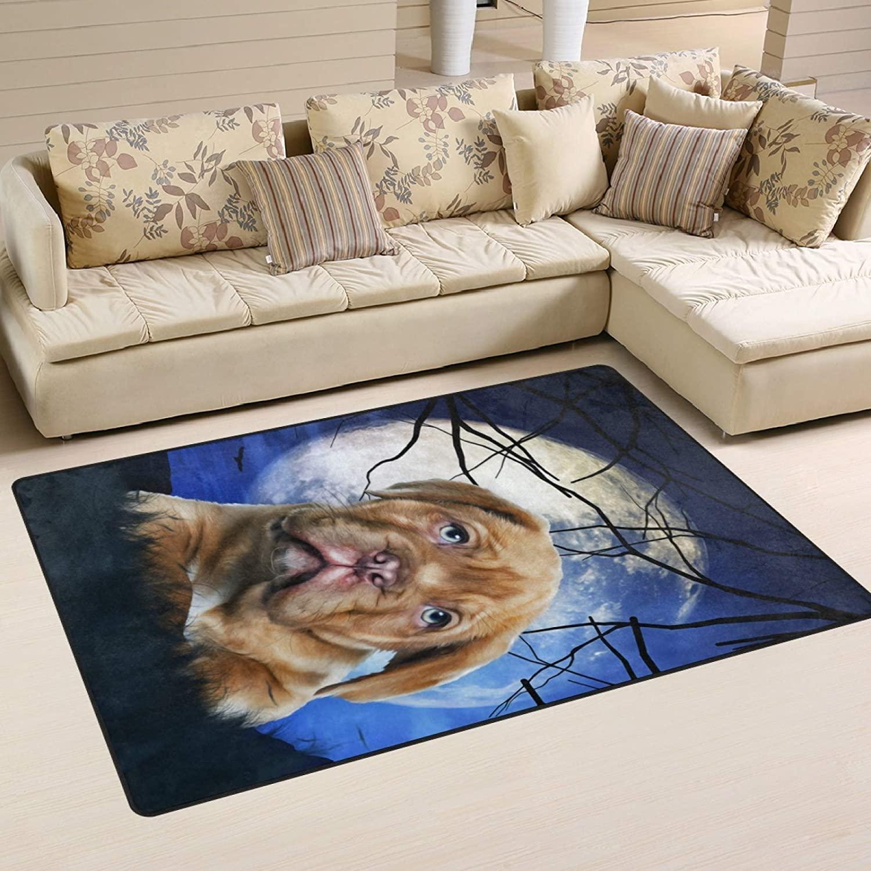 ALAZA Oil Painting of Dog Non Slip Area Rug 2' x 3', Modern Floor Rugs Mat for Living Room Bedroom Dinning Room Home Decor