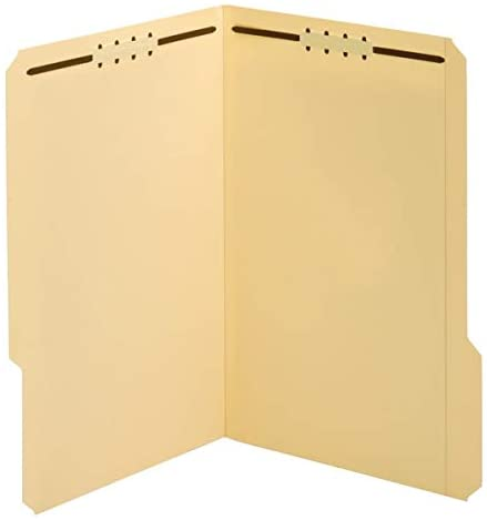 Office Depot Brand File Folders with Fasteners, 3/4